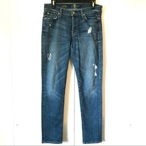 7 for All Mankind Button Fly Skinny Boyfriend